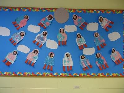 Trinity Preschool MP Space theme bulletin board