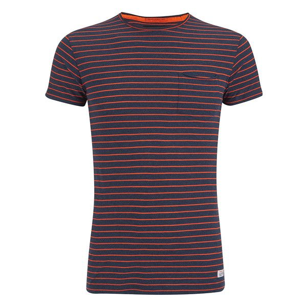Superdry Men's Lite Loomed Cut Curl Neon Stripe T-Shirt - Rich Indigo... (82 BRL) ❤ liked on Polyvore featuring men's fashion, men's clothing, men's shirts, men's t-shirts, multi, mens t shirts, rip curl mens t shirts, mens crew neck t shirts, mens striped t shirt and mens long sleeve t shirts
