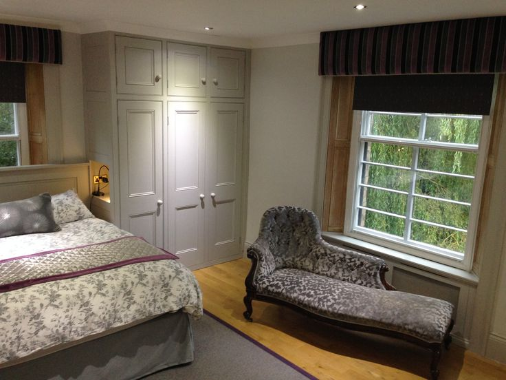 Beautifully styled grey bedroom with fitted wardrobes from Dunham Fitted Furniture