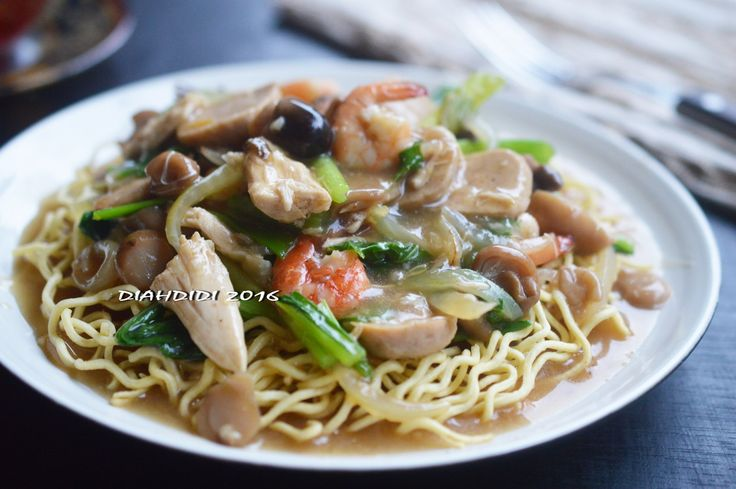 Diah Didi's Kitchen: Mie Siram Jamur & Sayuran