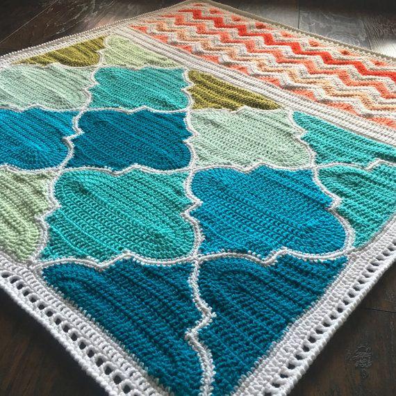 Pattern - BabyLove Brand Trellis and Chevron Blanket - Crochet Pattern/Tutorial…