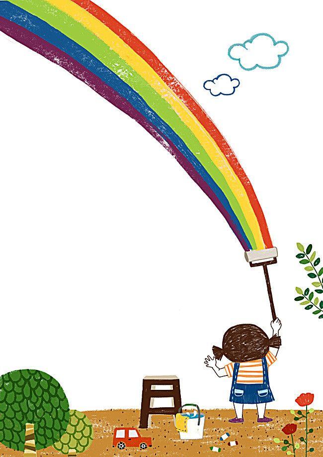 днем художник рисует радугу картинка есть