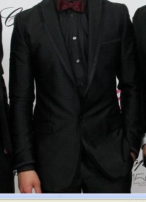black on black tuxedos  | SImon Spurr Single Button Black Tuxedo - Celebrities who wear, use, or ...