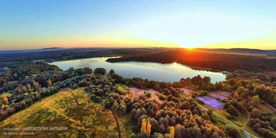Zalew w Cedzynie - zachód słońca