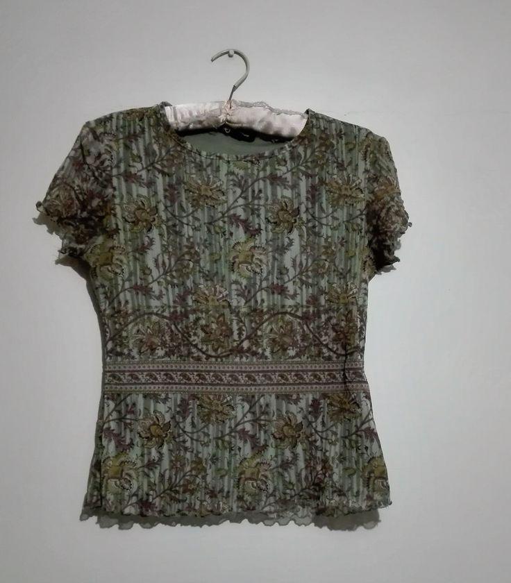 Blusa Hippie Vintage Talla S $4.000