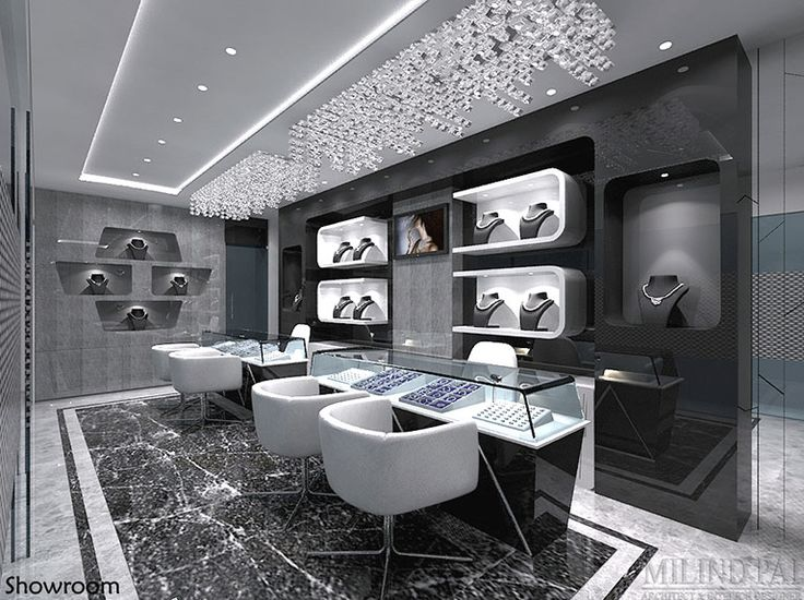 a jewellery showroom at bangalore interior design
