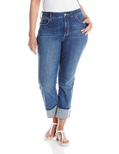 NYDJ Women's Plus-Size Lorena Skinny Boyfriend Jeans