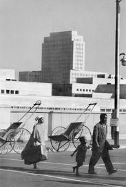 Arriving family, King George Street, Johannesburg. Circa 1955 (3_1358) [74816]