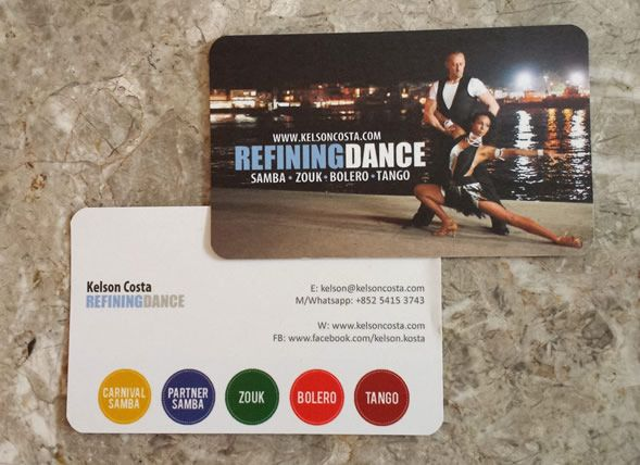 Created by www.ellenchungsk.com | Printed business card for Kelson Costa (Zouk and Samba dance artist).