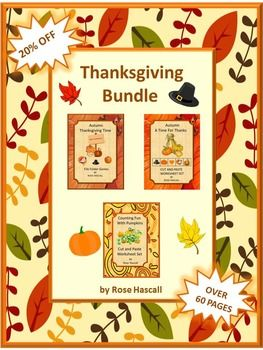 Thanksgiving: Autumn means falling leaves, cooler temperatures and Thanksgiving. Thanksgiving is a time when we all should take time to give thanks for all our blessings. Students love all the activities that come with the Thanksgiving holiday. You can bring some of this Thanksgiving fun into your classroom with this Thanksgiving Bundle.