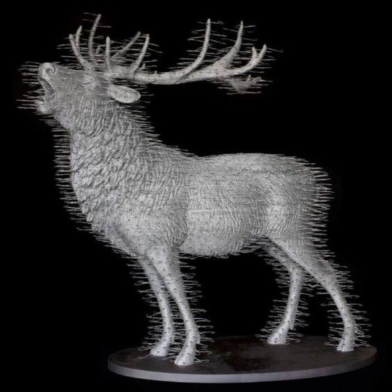 David Mach's Mind-Blowing Sculptures Made Of Metal Coat Hangers