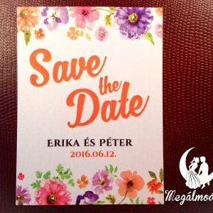 Save the Date kártya  #esküvő #savethedate #papír #kártya #egyedi #wedding #paper #unique #flowers