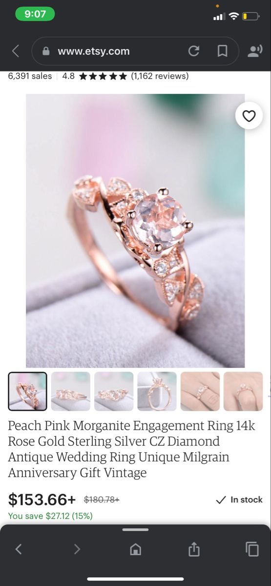 Details about  /Natural Ruby Rose Gold Plated Sterling Silver Engagement Ring Size US 4 to 15