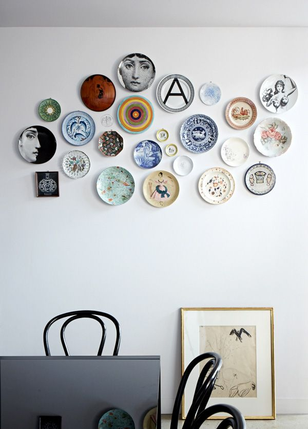 Plate Collection (can be VIP charactures, we present to them as a birthday gift and hang on our VIP plate wall - assorted vintage plates)