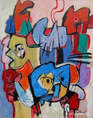 Schilderij (liefst olie op doek en voldoende groot) van Jan Cobbaert