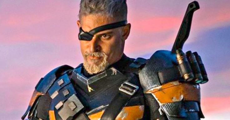 Joe Manganiello as Deathstroke Officially Revealed in Justice League -- Joe Manganiello shares an official image of his Deathstroke costume as seen in the Justice League post-credit scene. -- http://movieweb.com/deathstroke-joe-manganiello-justice-league-photo/