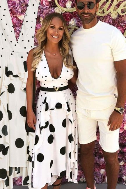 a0f40d241e Kate Wright Topshop polka dot dress  Rio Ferdinand s girlfriend wore the  dress of the summer on Instagram and everyone wants to get their hands on it