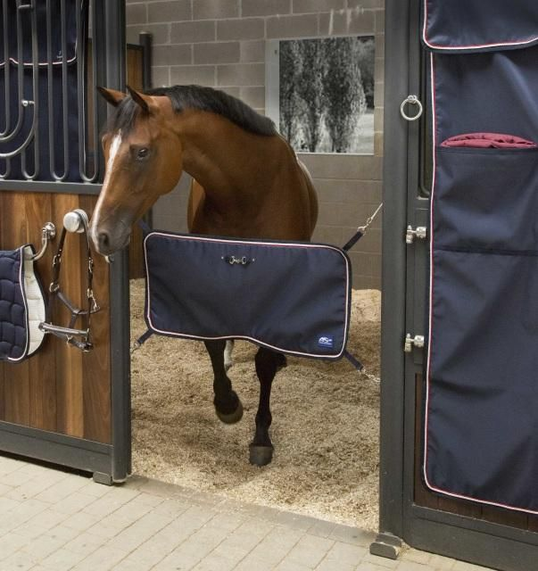 ANNA SCARPATI URKA STABLE GUARD The Anna Scarpati customizable stable door guard connects to your stable door as a guard so that your stable door may be left open whilst still blocking your horse from walking out. This Anna Scarpati customisable stable door guard is often used at home but is especially used at shows as part of the incredible Anna Scarpati customisable show set.
