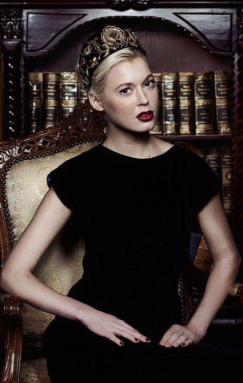 "Russian style in fashion. Kokoshnik (headpiece) ""Ulyana"" by Eve Anders Eco Fashion (Tallinn, Estonia)."