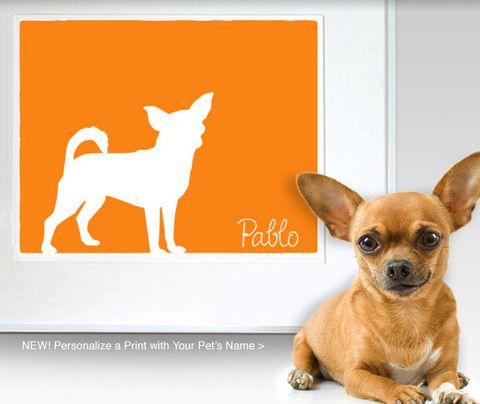 Mod-Dog Custom Pet Art: Your pets silhouette