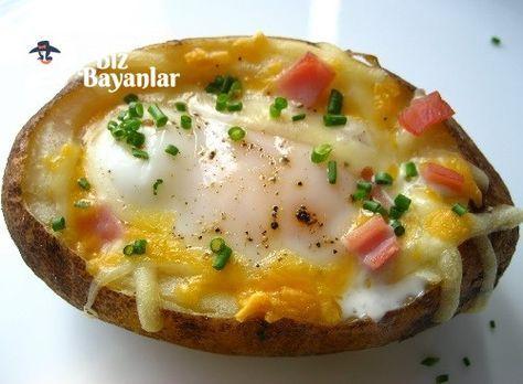 Yumurtalı Patates Dolması Tarifi Bizbayanlar.com  #Biber, #Domates, #Pastırma, #Patates, #Peynir, #Salam, #Soğan, #Sucuk, #Tereyağ, #Tuz, #Yumurta,#KahvaltılıkTarifleri http://bizbayanlar.com/yemek-tarifleri/kahvaltilik-tarifleri/yumurtali-patates-dolmasi-tarifi/