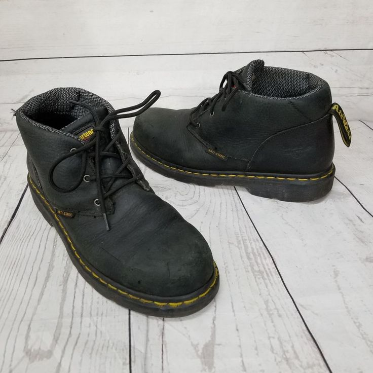 Doc Dr Martens Steel Toe Work Safety black leather Boots Anti Static M8 L9 EU41 #DrMartens #WorkSafety