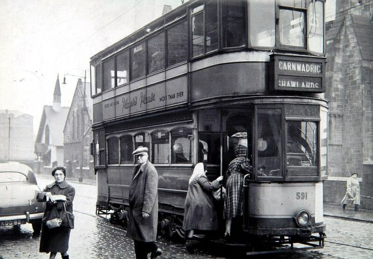 Old type Glasgow Tram. Known to us the Caurs.