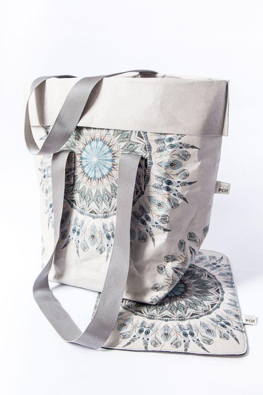 torba  VENICE + etui na laptopa mandala  stone