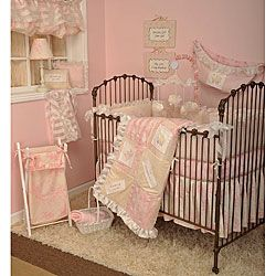 @Overstock - The Heaven Sent Girl 4 piece set includes bumper, sheet, dust ruffle, and coverletHeaven Sent Girl baby bedding collection is a beautiful combination of pinks and creamhttp://www.overstock.com/Baby/Cotton-Tale-Heaven-Sent-Girl-4-piece-Crib-Bedding-Set/4457233/product.html?CID=214117 $143.99