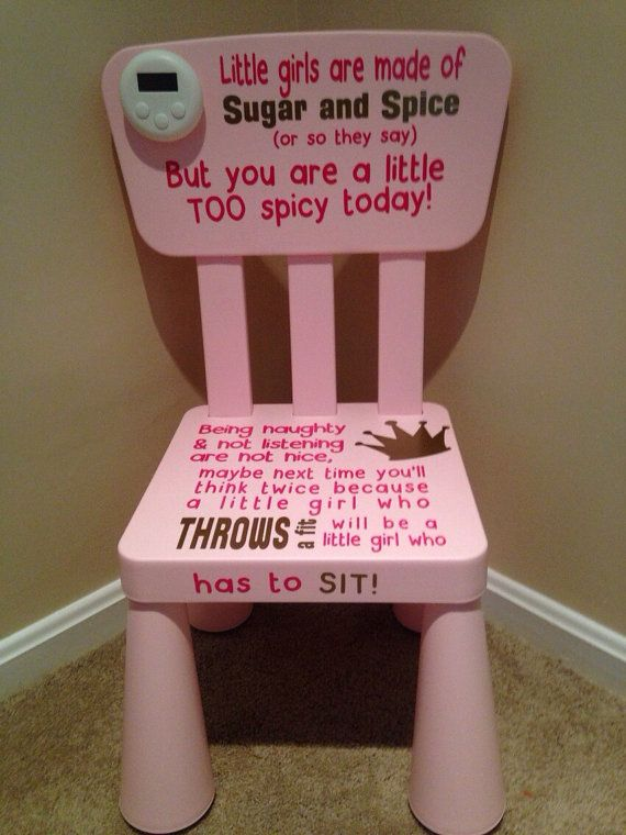 Time Out Chair, Time Out Chair With Timer, Girl Time Out Chair, Boy Time Out  Chair