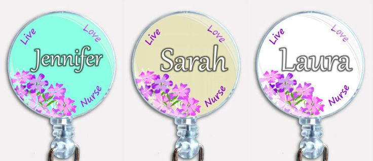 Personalized Nurse Live Love Badge Reel Retractable Custom ID Name Card Holder  #Handmade