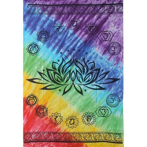 Chakra Lotus Tapestry - The Hippie House