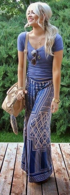 Lovely Wide Leg Pants with Suitable Clothings and Accecories Love this relaxing look!!