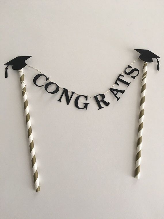 Graduation Cake Topper  Graduation by SweetEscapesbyDebbie on etsy - #graduation #sweetescapesbydebbie #topper - #new