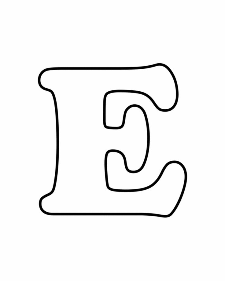 Letters for coloring: E