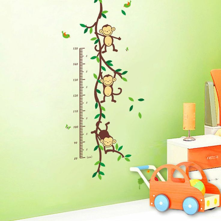 Vinilo adhesivo decorativo monos metro para ni os for Vinilos decorativos de ninos