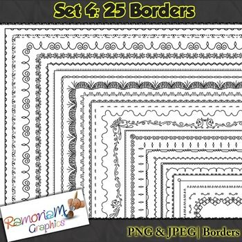 25 300dpi borders in PNG & JPEG format. Commercial use ok