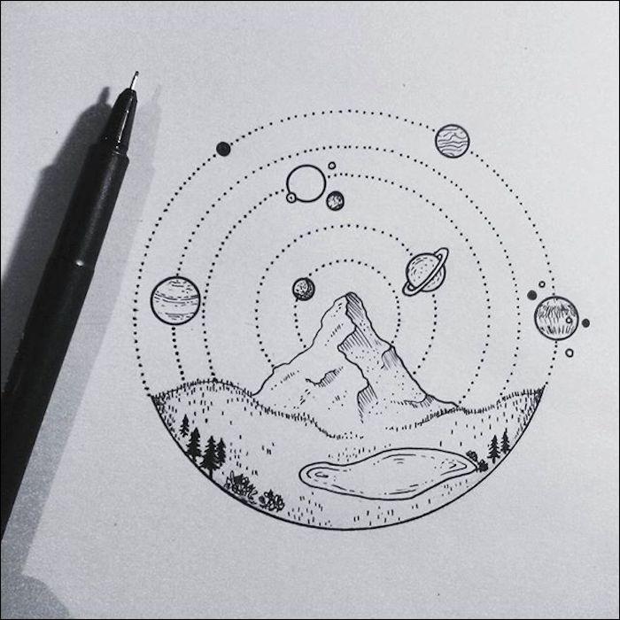 1001 Images Inspiratrices De Dessin De Paysage Magnifique Artist Sketches Sketch Book Drawings