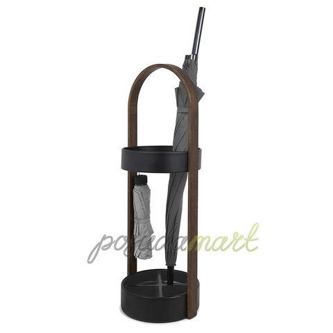 Подставка для зонтов Hub 67 см металл/дерево черный/орех серия Для дома Umbra 320240-048 с доставкой - Posudamart.Ru