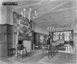 W. R. Lethaby. Avon Tyrrell An interior view of Avon Tyrrell. The house was built in 1891 to designs by W. R. Lethaby in the arts and crafts style. Not Used CL 11/06/1910  http://www.countrylifeimages.co.uk/ResizedImages/Large/603519.jpg