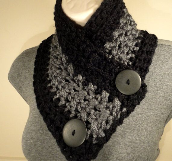 Hey, I found this really awesome Etsy listing at https://www.etsy.com/listing/159902967/new-button-scarf-crochet-cowl-crochet