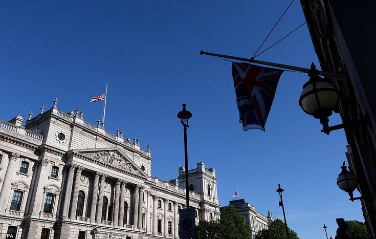 Flags were flown at half mast in Whitehall today as the nation remembered the 38 victims of the Tunisia massacre