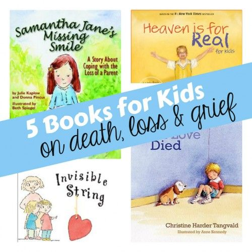 I wish that I had this list back when my father in law was dying.  They read Heaven is for Real and a couple of other books.  Books to talk about loss and grief