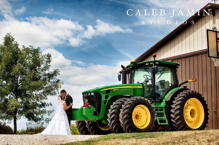John Deere Tractor - Wedding - Bride and Groom