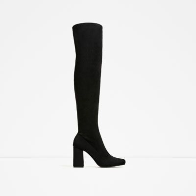 STRETCH LEG HIGH HEEL BOOTS-Boots-SHOES-WOMAN | ZARA United States