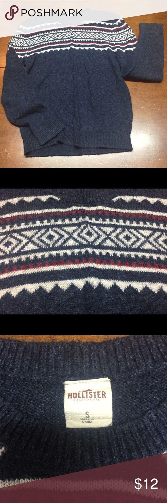 Men's Small Hollister Sweater Men's Small Hollister Sweater. Size Small. Blue, white, red. Hollister Sweaters Crewneck