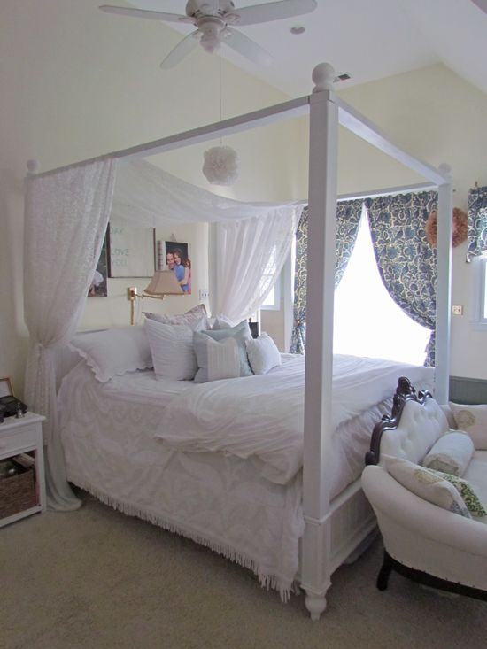 16 best images about canopy beds on pinterest for Build your own canopy frame