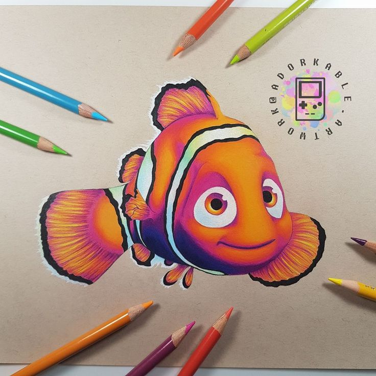Nemo art - Signed Print - Disney, Disney art