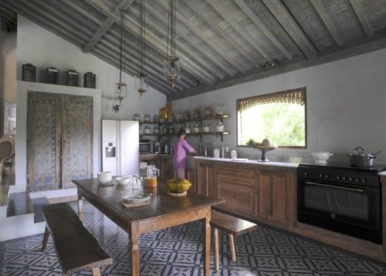 Javanese Joglo - great kitchen