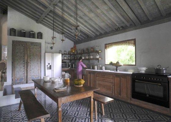 Javanese Joglo - great kitchen